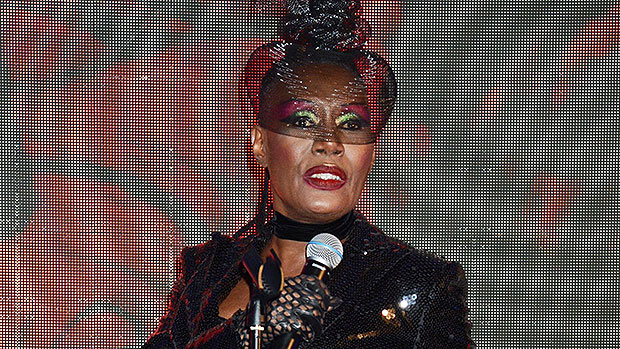 Grace Jones, 73, Rocks Sexy Bodysuit At Icon Ball During London Fashion Week — Photos.jpg