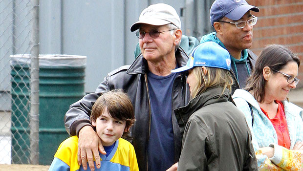 Harrison Ford, Calista Flockhart, and son Liam