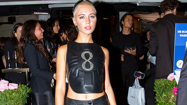 Jude Law's Daughter Iris, 20, Stuns In Leather Crop Top For Paris Fashion Week Party.jpg