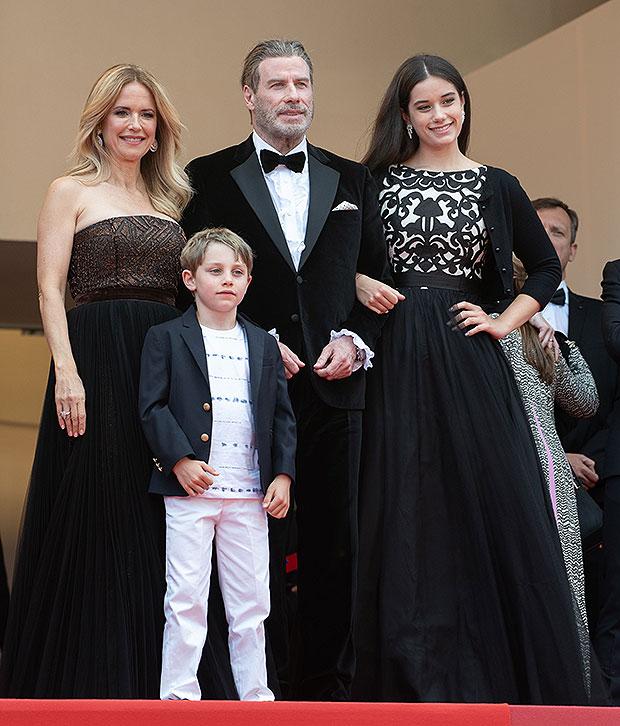 Kelly Preston, John Travolta, Kids