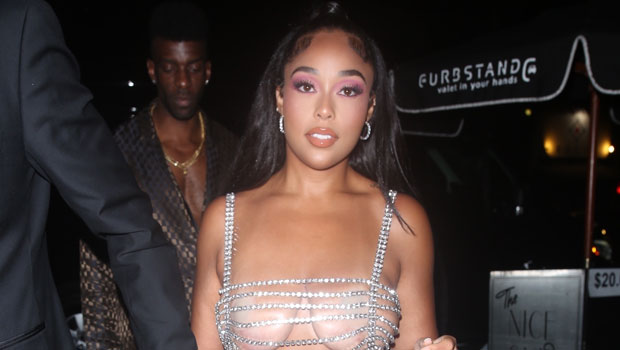 Jordyn Woods Wears Barely There Chain Crystal Dress As She Steps Out For 24th Birthday – Photos.jpg