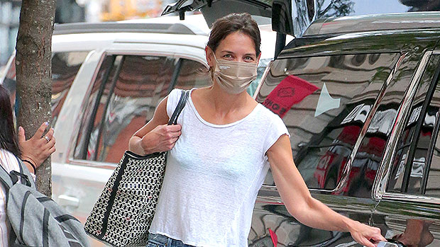 Katie Holmes Rocks Semi-Sheer Top While Out In NYC With Her Dog — Photo.jpg