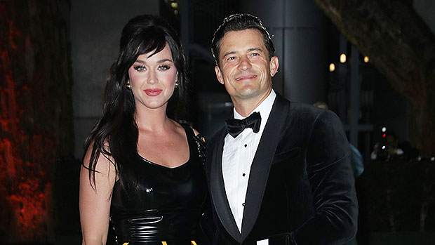 Katy Perry Is Stylish In Leather Dress As She Cozies Up To Orlando Bloom At Oscars Museum
