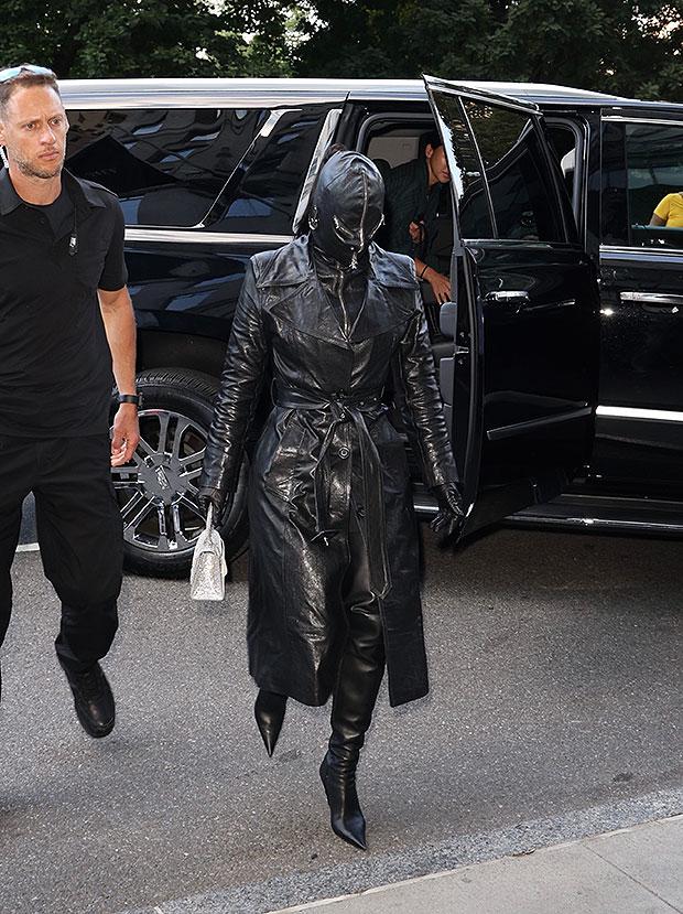 Kim Kardashian Covers Face In Bizarre All Leather Balenciaga Ensemble Hellip
