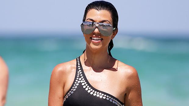 Kourtney Kardashian Models Cutout Swimsuit From Kylie Jenner's New Swimwear Line — Photos - HollywoodLife