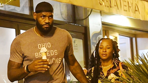 LeBron James & Wife Savannah Hold Hands On Sweet Ice Cream Date While Vacationing In Italy.jpg