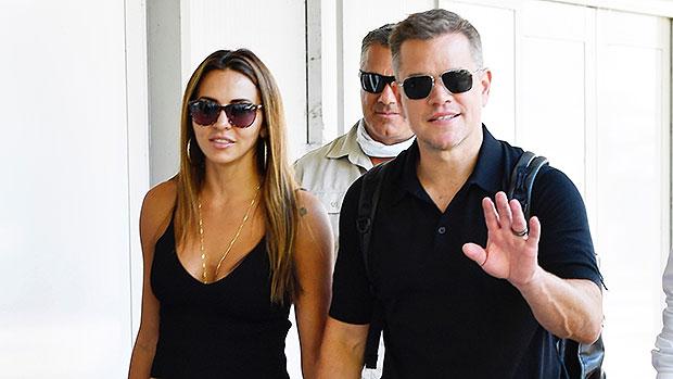 Matt Damon's Wife Luciana Barroso Sizzles In Black Tank Top As They Hold Hands Leaving Venice.jpg
