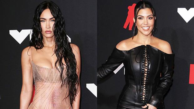 Kourtney Kardashian & Megan Fox Make Out With Their Boyfriends In Sexy Bathroom Video At VMAs