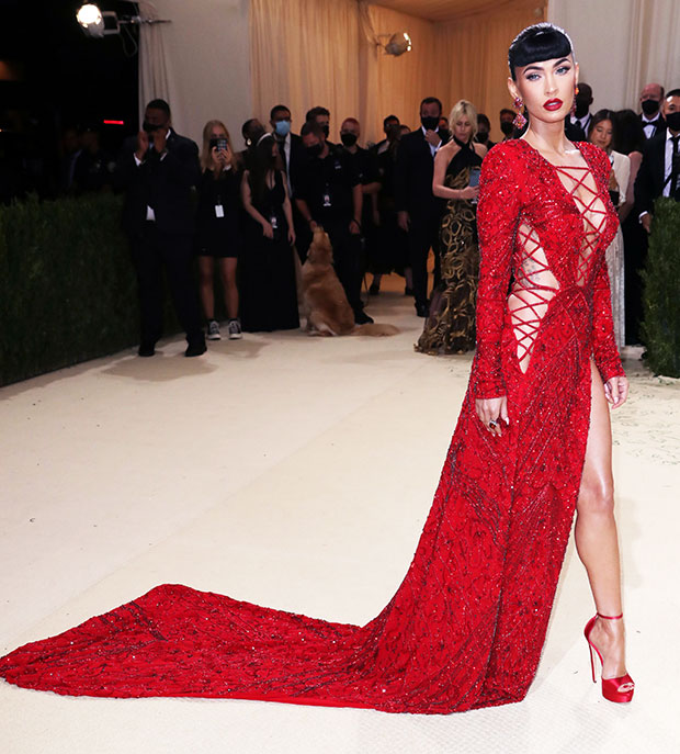 Megan Fox Is Red Hot In Sexy Cutout Gown For Met Gala ...
