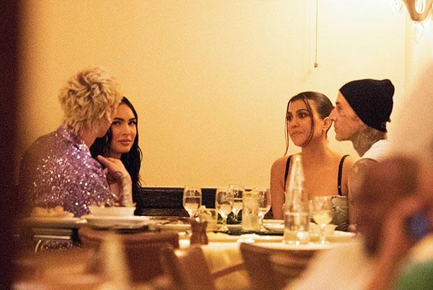 Machine Gun Kelly, Megan Fox, Kourtney Kardashian and Travis Barker