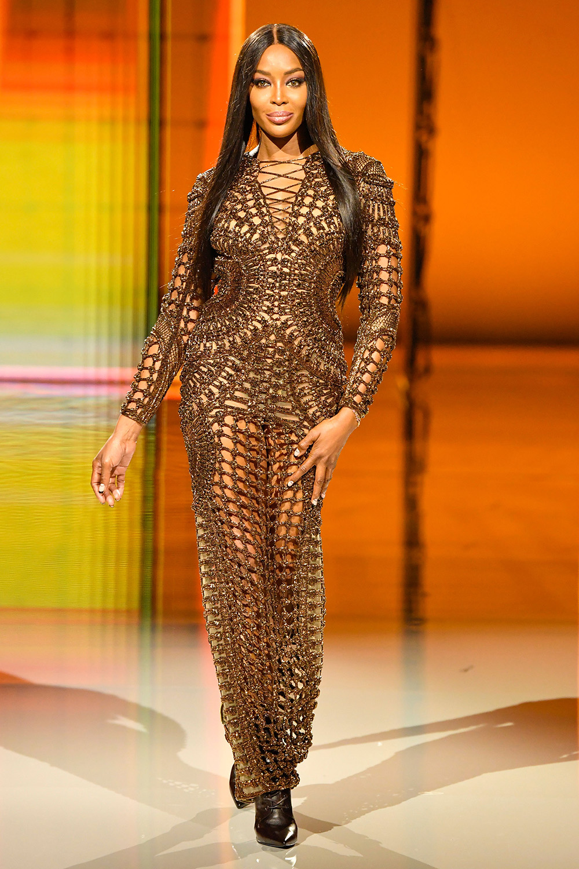 Naomi Campbell at Balmain show
