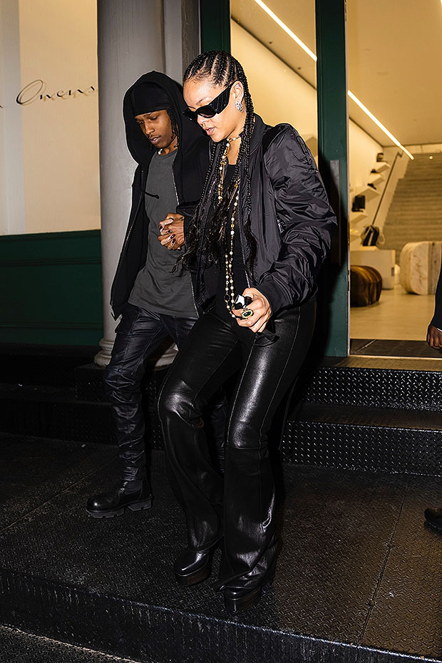 Rihanna Amp A Ap Rocky Sweetly Hold Hands As They Twin Hellip