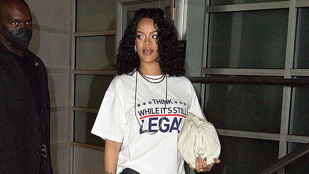 Rihanna Glows While Sharing A Political Message On T-Shirt As She Heads To A Music Studio – Photos.jpg
