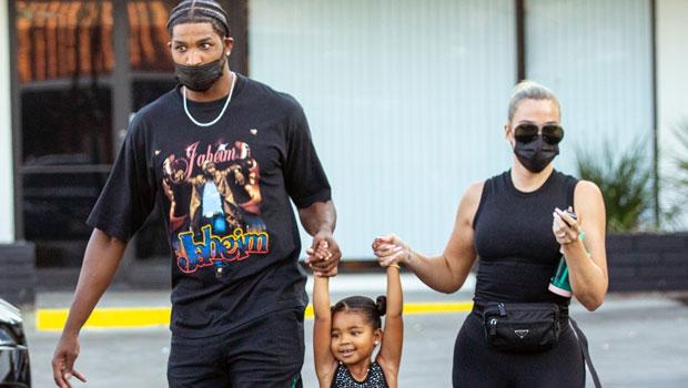 Khloé Kardashian & Tristan Thompson Match In Black While Taking Daughter True To Dance Class.jpg