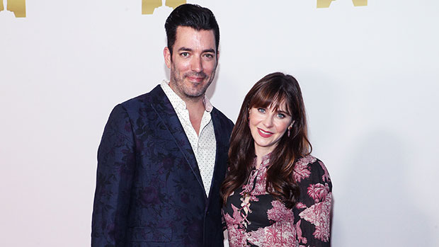 Zooey Deschanel & Jonathan Scott Couple Up For Red Carpet Date Night At Academy Of Motion Pictures Party