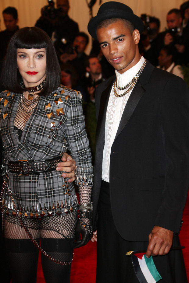 Madonna and Brahim ZaibatCostume Institute Gala Benefit celebrating the Punk: Chaos To Couture exhibition, Metropolitan Museum of Art, New York, America - 06 May 2013