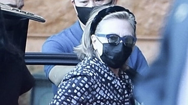 Hillary Clinton & Daughter Chelsea Arrive At LA Hospital To Visit Bill, 75, In ICU – Photos.jpg