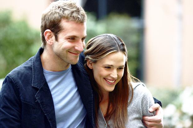 "Jennifer Garner & Bradley Cooper on ""Alias"" set."