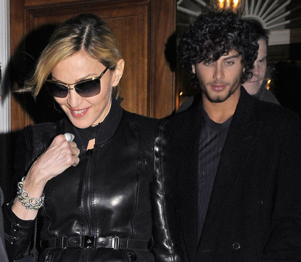 Madonna and boyfriend Jesus LuzMadonna and boyfriend Jesus Luz out and about in Knightsbridge, London, Britain - 31 Mar 2010 Madonna pictured showing a rather wrinkled skin on one side of her neck, on leaving a private address in Knightsbridge with brazilian toy-boyfriend Jesus Luz, at around 1am. At the private party were also present italian fashion designer Valentino, actress Gwyneth Paltrow and Stella MacCartney.