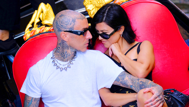 Kourtney Kardashian & Travis Barker Passionately Kiss In First Photos Since Engagement.jpg
