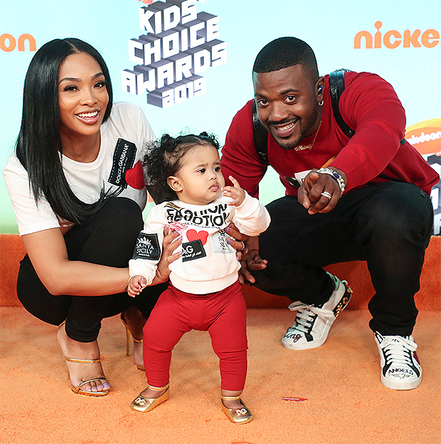 Ray J, Princess Love, and their daughter Melody