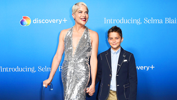 Selma Blair Looks Stunning In Silver Dress On Red Carpet With Adorable Son Arthur — Pics