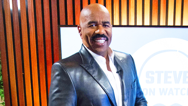 Steve Harvey Trolled For Dressing In Leather Pants & Bright Blue Jacket In New Photo.jpg