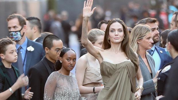 Zahara Jolie-Pitt Wears Mom Angelina's 2014 Elie Saab Couture Oscars Dress At 'Eternals' Premiere