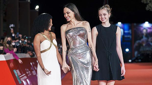 Shiloh Jolie-Pitt, 15, Looks So Much Like Dad Brad Pitt On Red Carpet With Mom Angelina & Zahara, 15