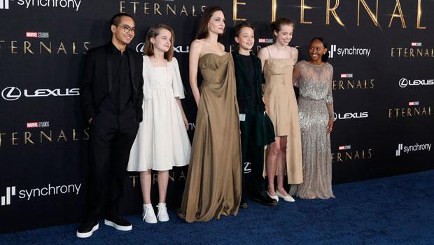 Shiloh Jolie-Pitt, 15, Stuns In Mom Angelina's Beige Dress At 'Eternals' Premiere.jpg