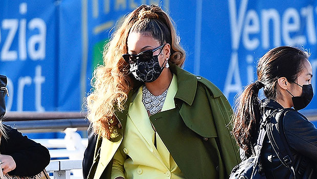 Beyoncé Slays In A Yellow Suit As She Leaves Venice With Jay-Z — Photos