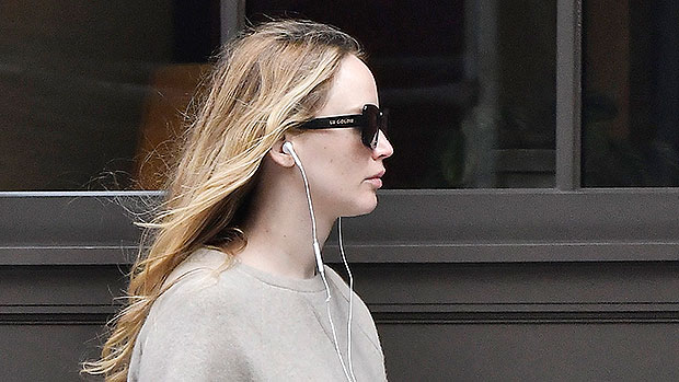 Jennifer Lawrence Covers Growing Baby Bump With Beige Sweater & Skirt On NYC Stroll – Photos.jpg