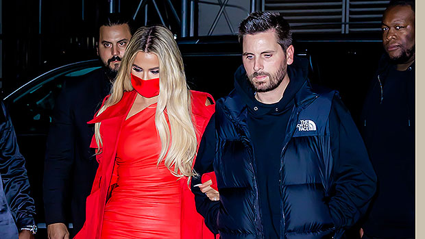 Khloe Kardashian Is Red Hot In Leather Mini Dress For 'SNL' After Party With Scott Disick – Photos.jpg