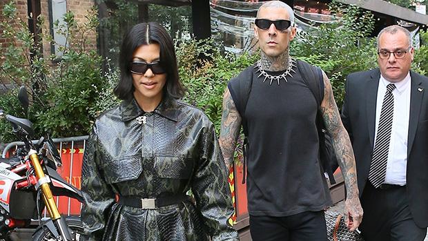 Kourtney Kardashian Steps Out With Travis Barker In Snakeskin Mini Coat & Boots After 'SNL' Spoof.jpg