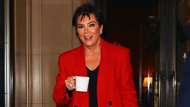 Kris Jenner Bundles Up In A Red Coat After Kim's 'SNL' Debut With Khloe & Corey Gamble thumbnail