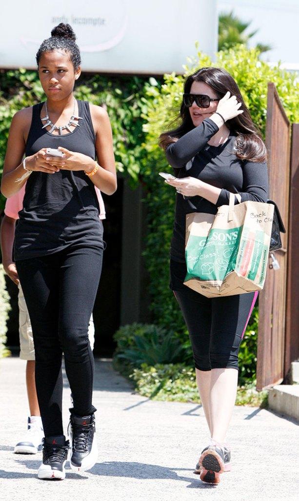 Destiny Odom and Khloe Kardashian