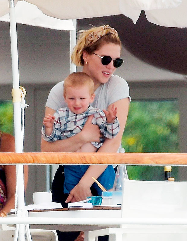 Lea Seydoux with her son, George