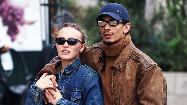 Lily-Rose Depp Rocks Burberry Mini Skirt & Hugs New BF Yassine Stein On Stroll In Paris.jpg