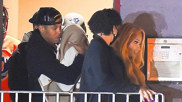 Nicki Minaj & Kenneth Petty Make Rare Outing With Son 'Papa Bear', 1, Leaving New Jersey Studio.jpg