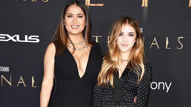 Salma Hayek, 55, Stuns In Plunging Black Dress At 'Eternals' Premiere With Daughter, 14.jpg