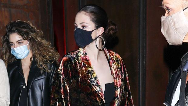 Selena Gomez Stuns In Velvet Duster & Low Cut Black Top As She Heads To Dinner — Photos.jpg