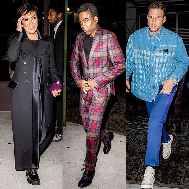 Kris Jenner, Chris Rock, Blake Griffin