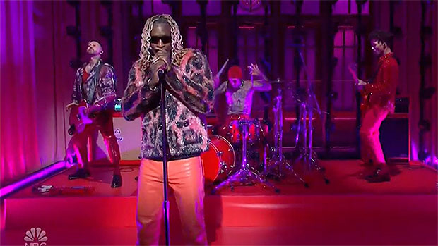 Travis Barker Pops Up To Perform 'Tick Tock' With Friend Young Thug On 'SNL' — Watch